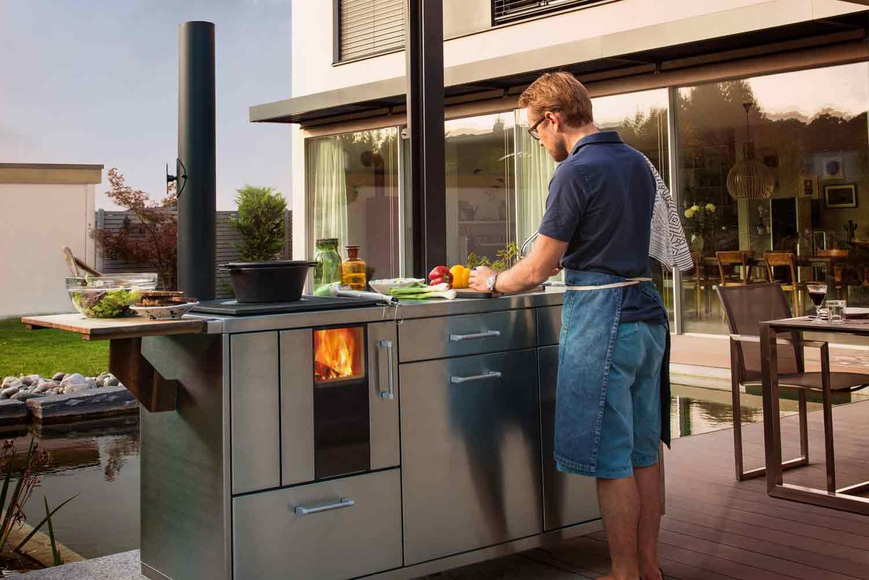 Outdoor Küche Holzofen : Freundt und gampe
